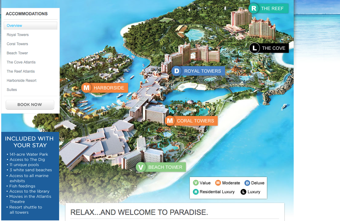 Map Of Resorts On Paradise Island Bahamas
